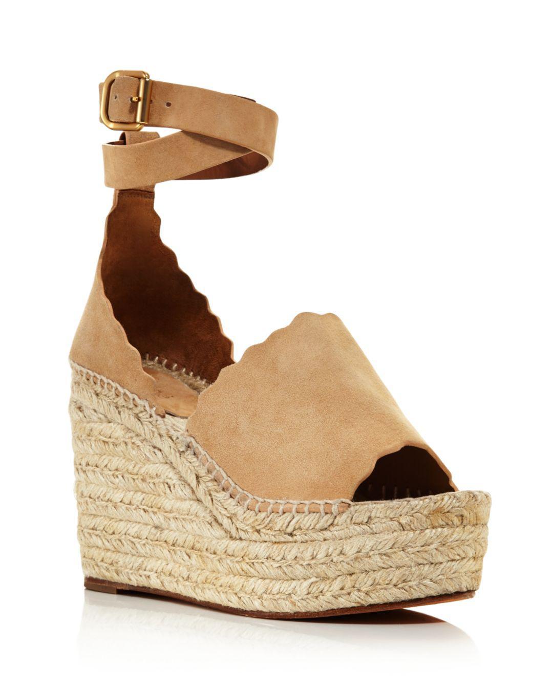 394a0407fd8 Chloé Women s Lauren Espadrille Platform Wedge Sandals - Lyst