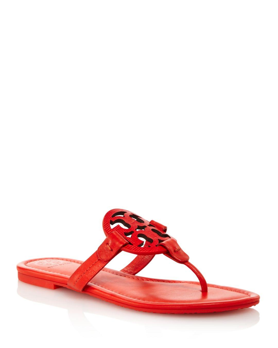 d98f91ffe70dfb Lyst - Tory Burch Women s Miller Thong Sandals in Red