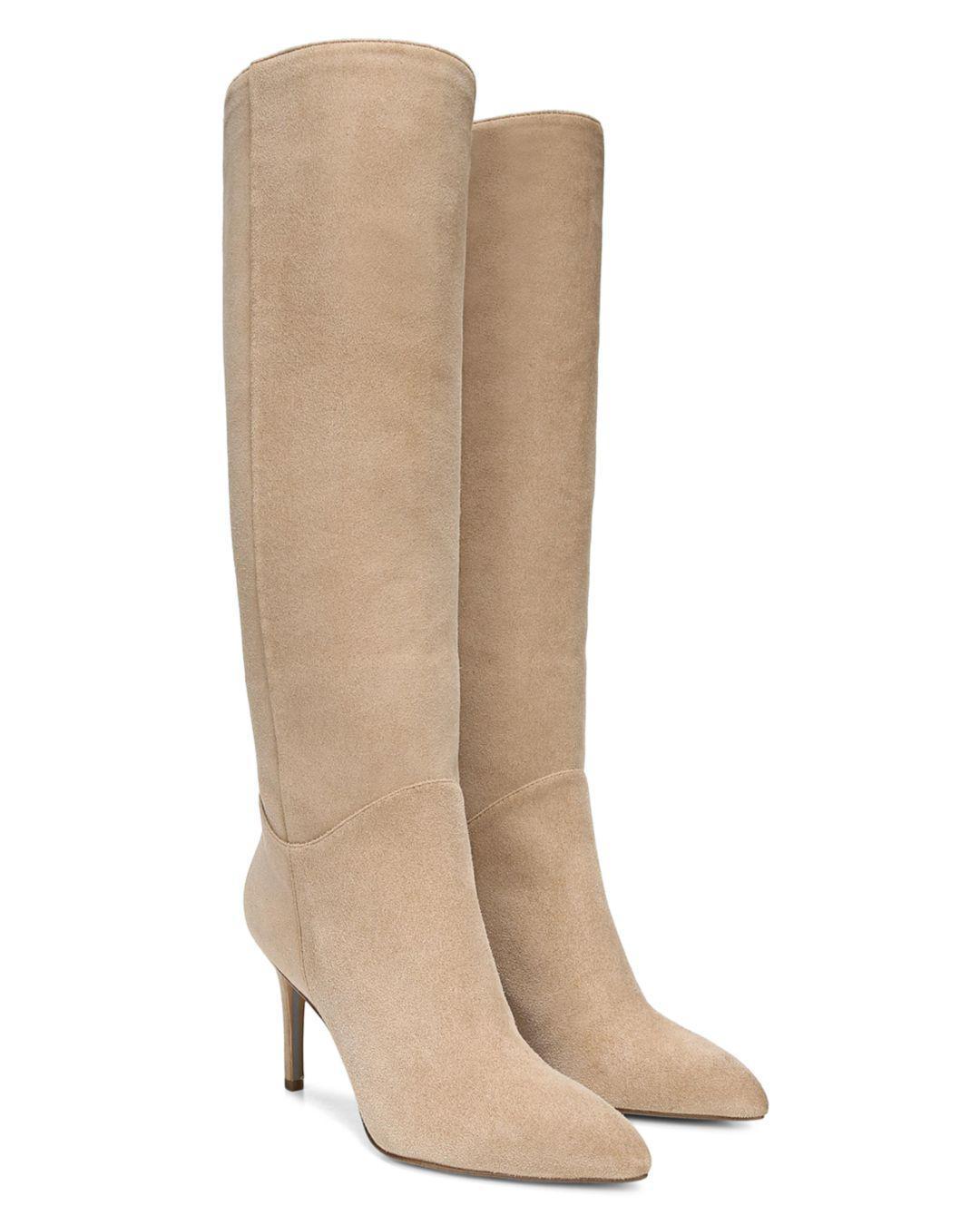 b68f7eb6eda Lyst - Sam Edelman Women s Olen Pointed Toe Suede High-heel Boots in ...