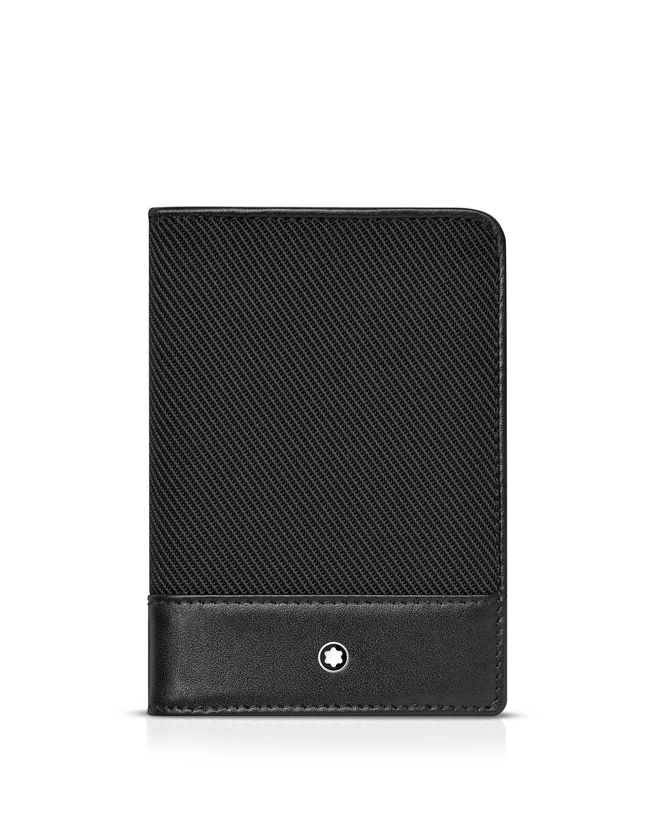Montblanc Nightflight Business Card Holder in Black for Men