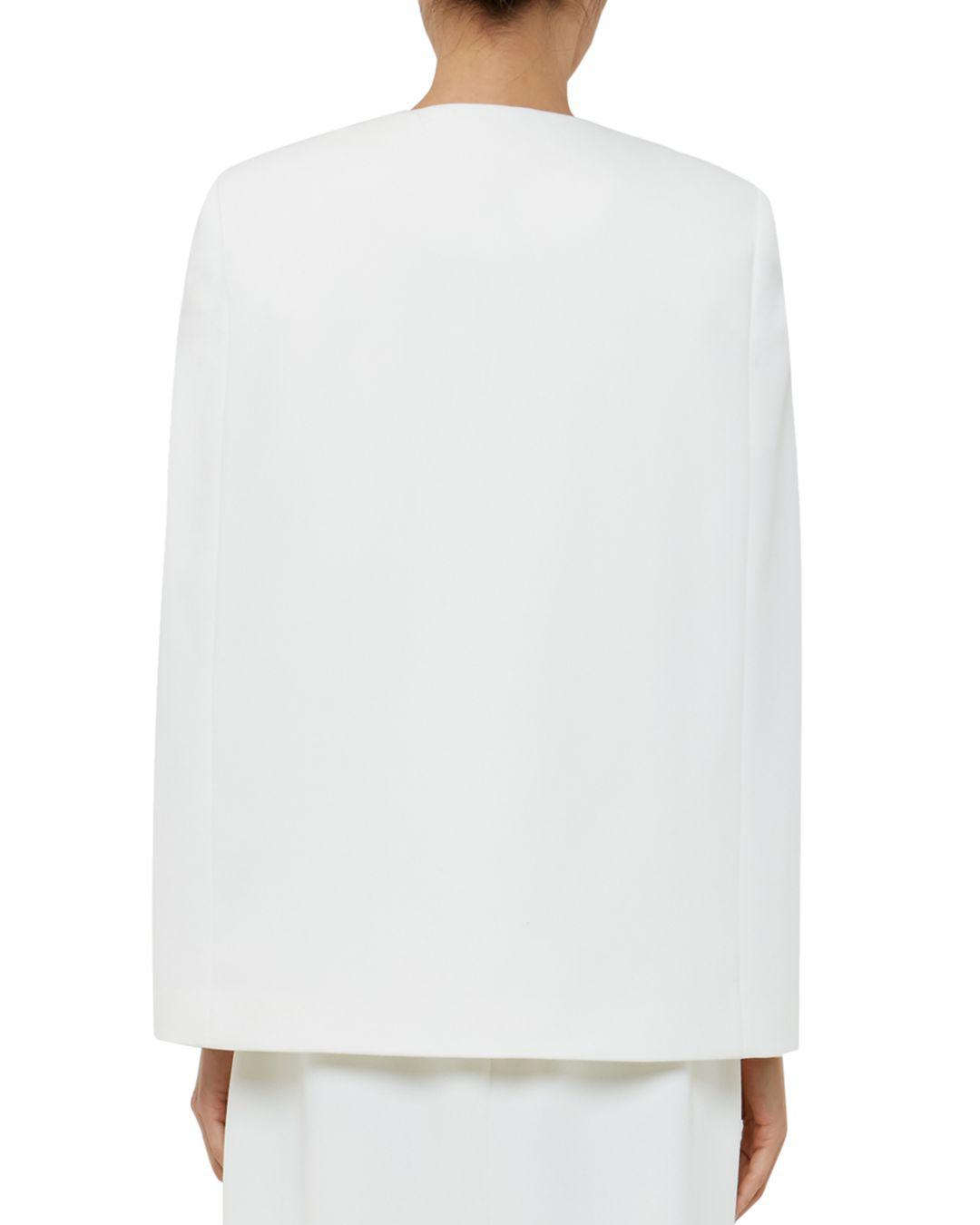 d1a508773 Lyst - Ted Baker Maggyy Ottoman Cape Blazer in White