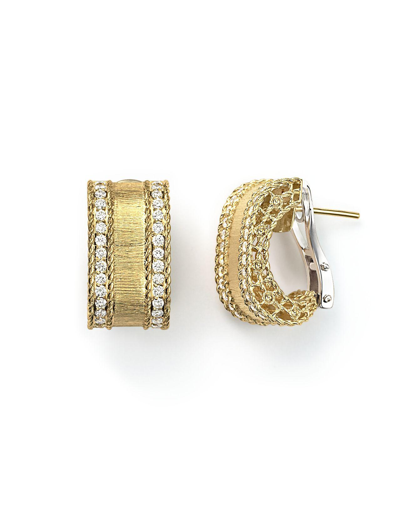 Roberto Coin Princess 18K Yellow Gold Diamond Bar Earrings JBMcJQF
