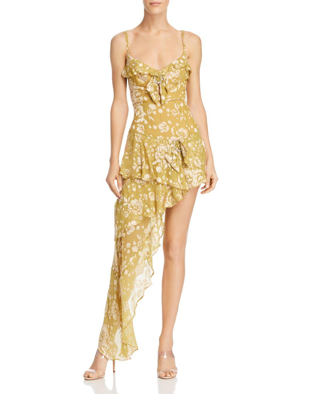 866fd5278d23 Lyst - For Love   Lemons Cosmo Asymmetric Mini Dress in Yellow