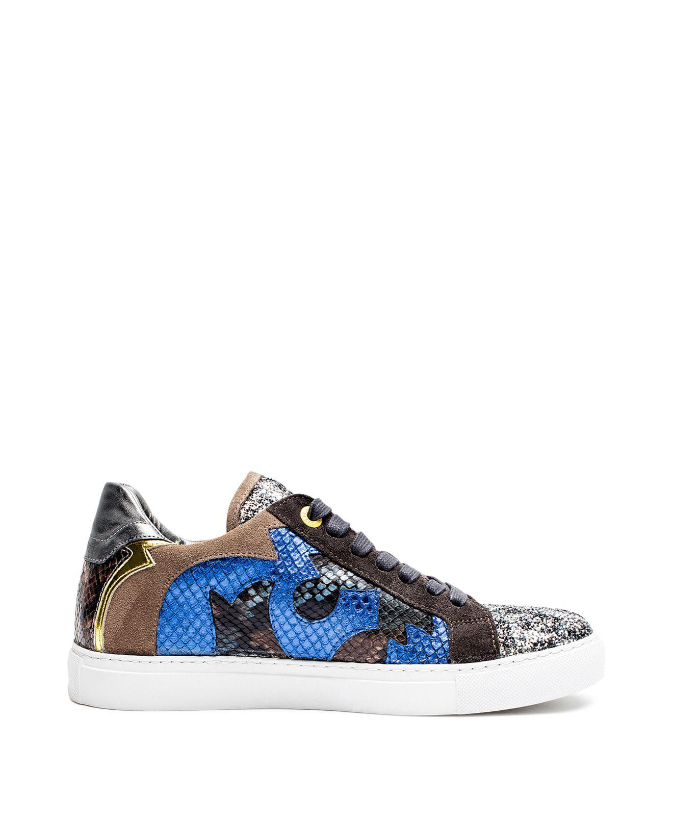Zadig & Voltaire Zv1747 Nash Glitleo Leather Sneakers dsNNTw0wu