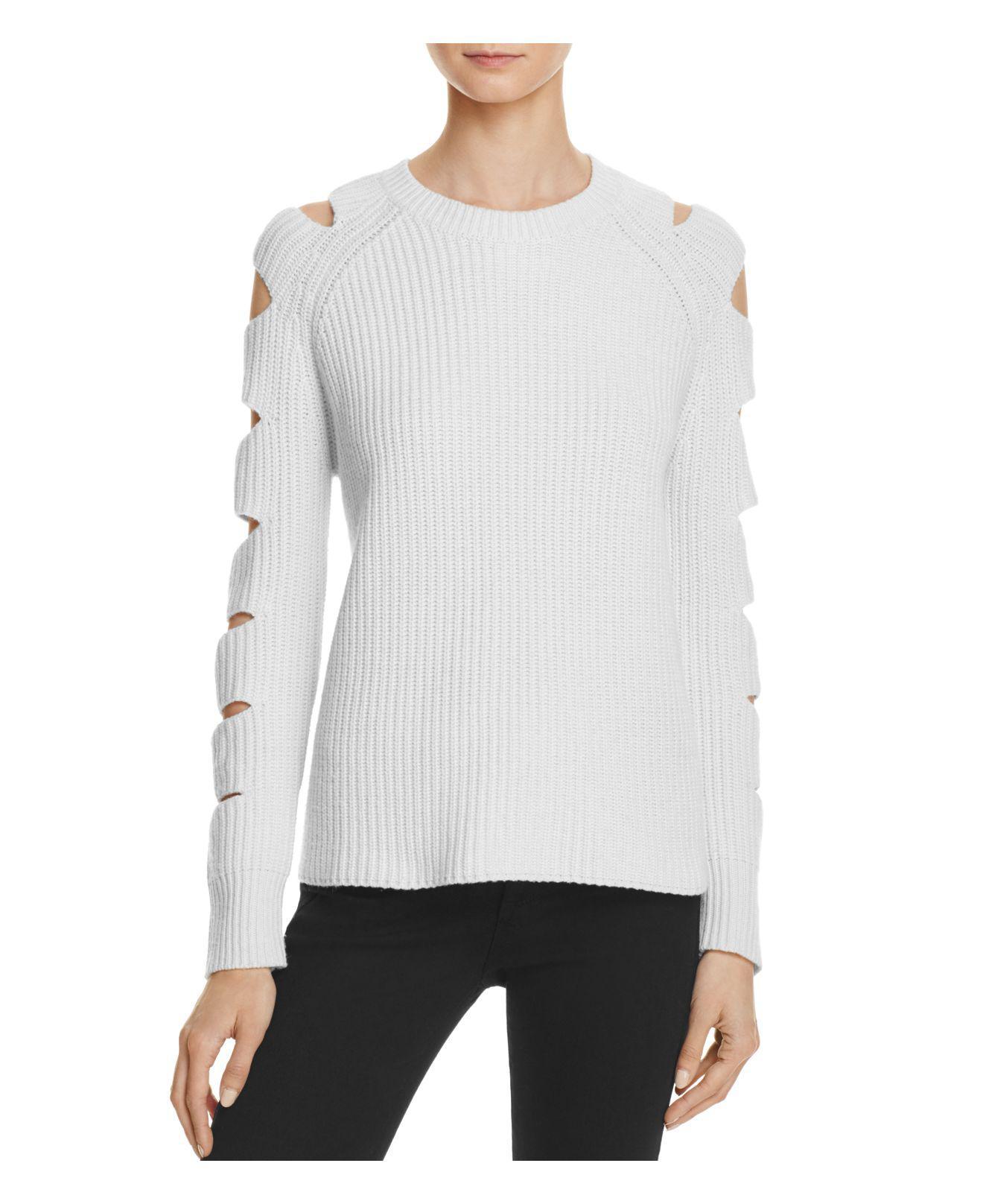 12faf4a5a0fa Zoe Jordan Locke Cutout Sleeve Sweater in White - Lyst