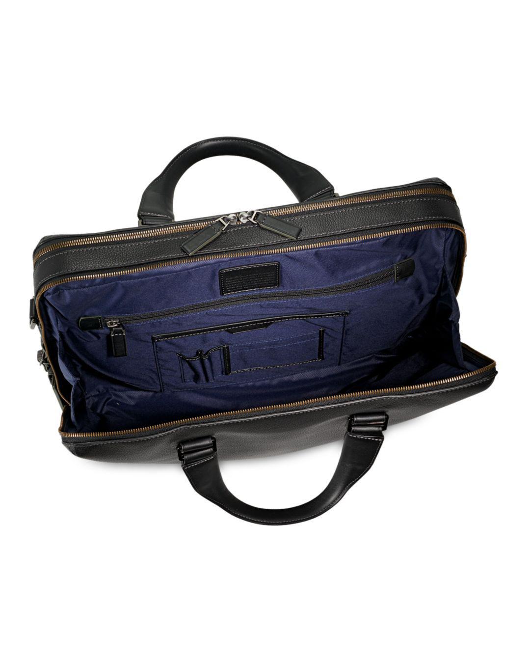 9d5370c3b560 Lyst - Tumi Harrison Leather Horton Double Zip Briefcase in Black for Men