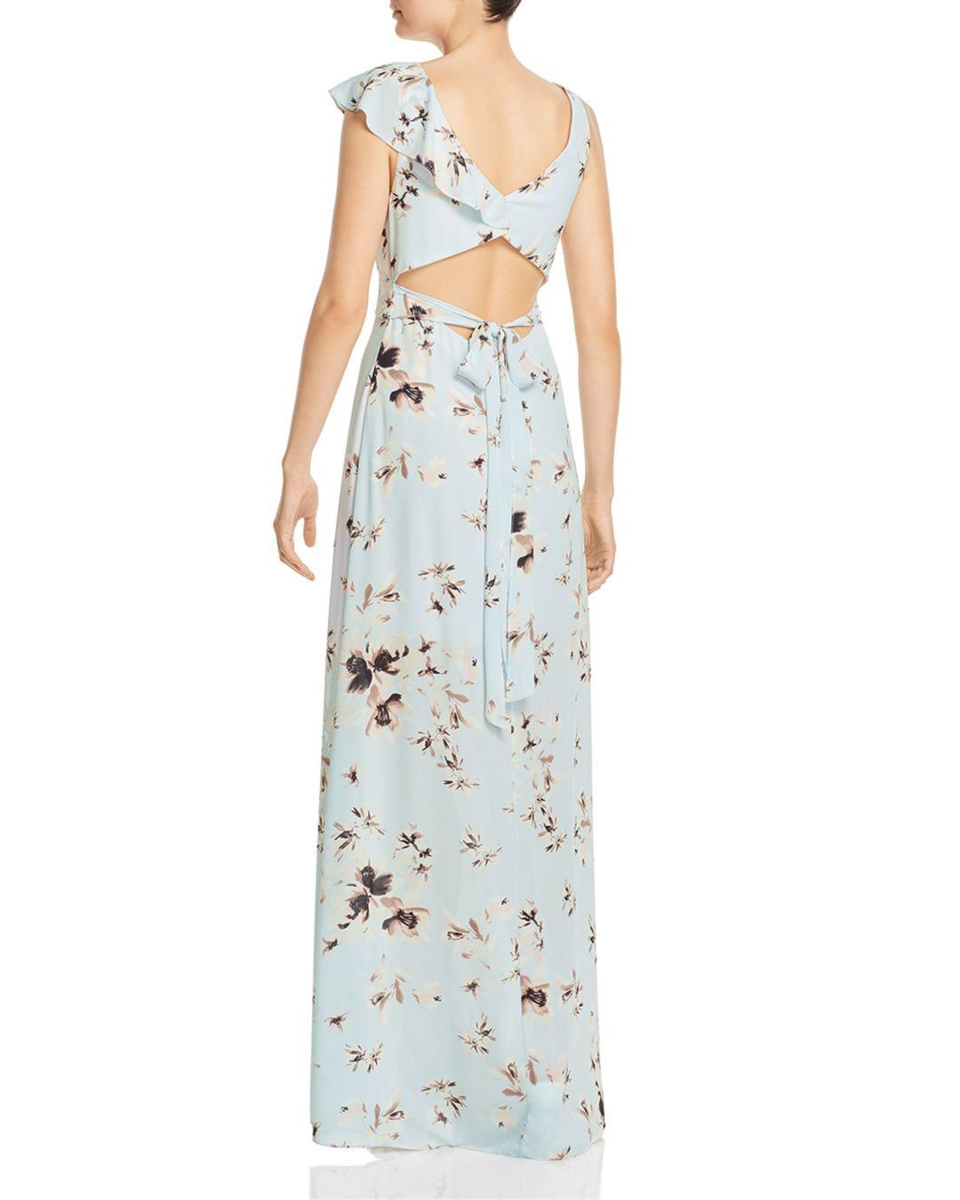 66e336bab2 Lyst - BCBGMAXAZRIA Ruffled Floral Gown