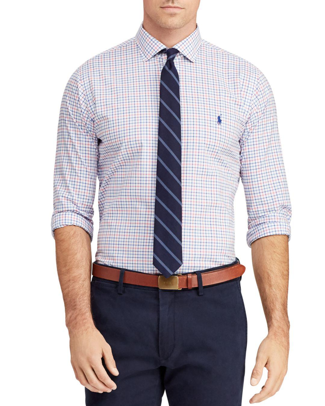 d7e73b0541a03 Polo Ralph Lauren. Men s Blue Windowpane-print Classic Fit Shirt.  90 From  Bloomingdale s. Free shipping with Bloomingdale s on ...
