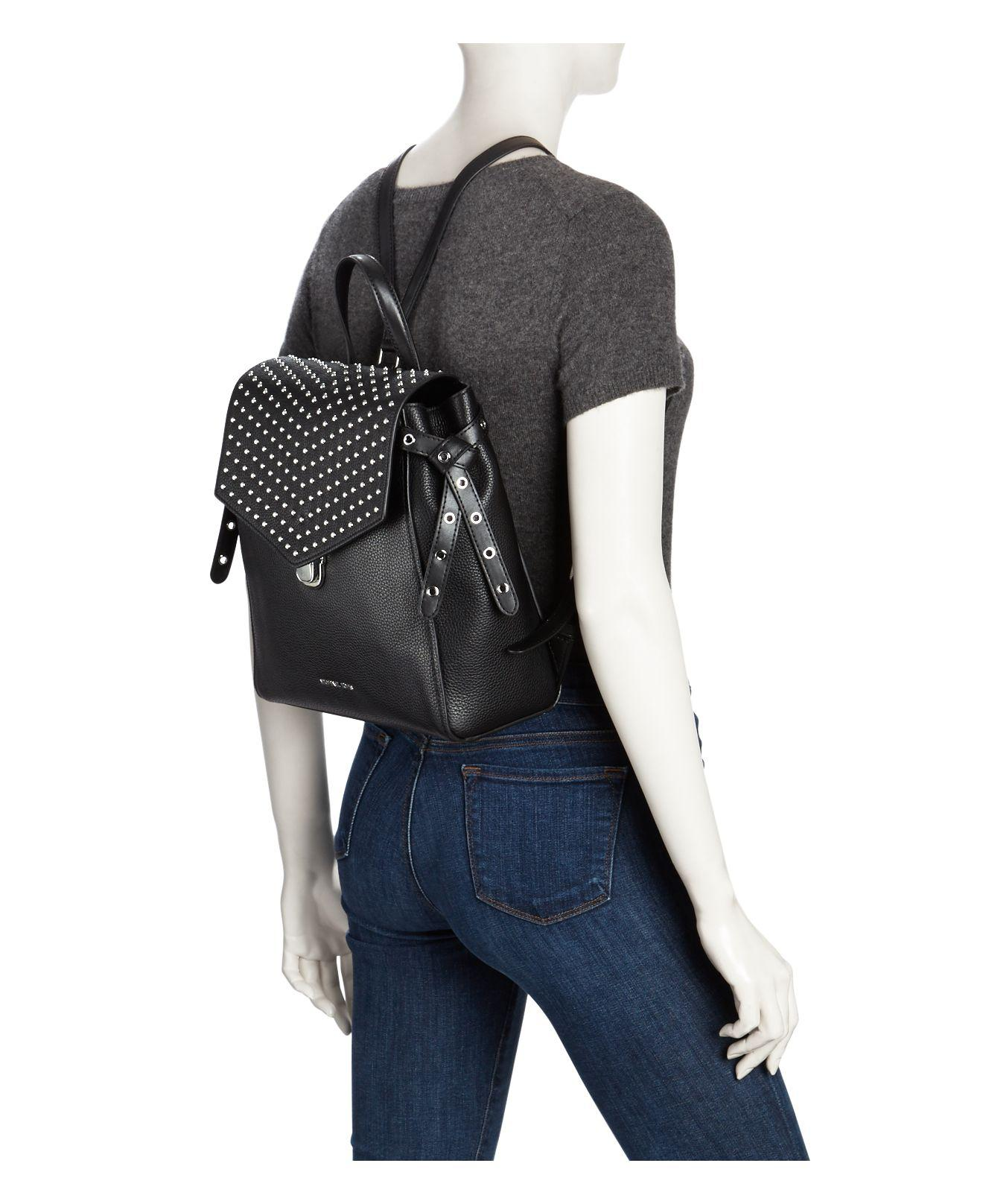 2f285b2f8cff2 ... shopping lyst michael michael kors bristol medium leather backpack in  black 8795b ab2fc