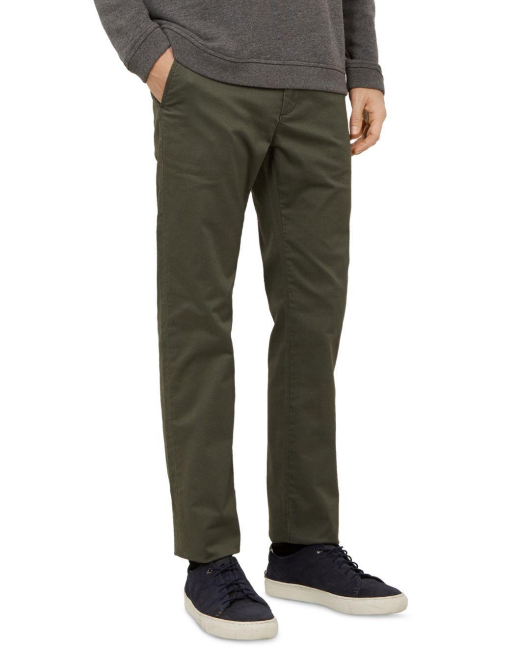 8463cd31f3e2 Lyst - Ted Baker Sladrid Slim Fit Printed Chinos in Green for Men