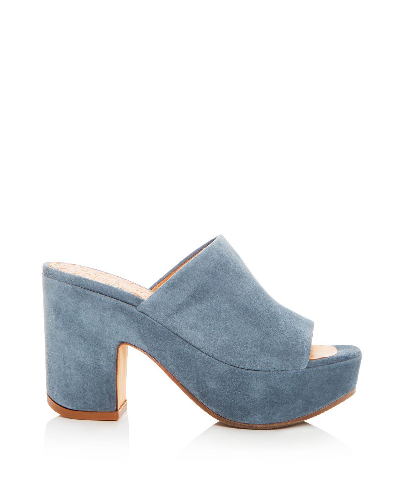 Chie Mihara Women's Fumie Suede High-Heel Platform Slide Sandals - 100% Exclusive FqrUYe4
