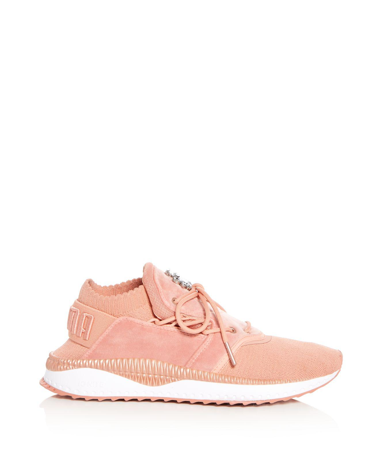 5b8b85a8b50 Lyst - PUMA Women s Tsugi Shinsei Velour Sneakers in Pink