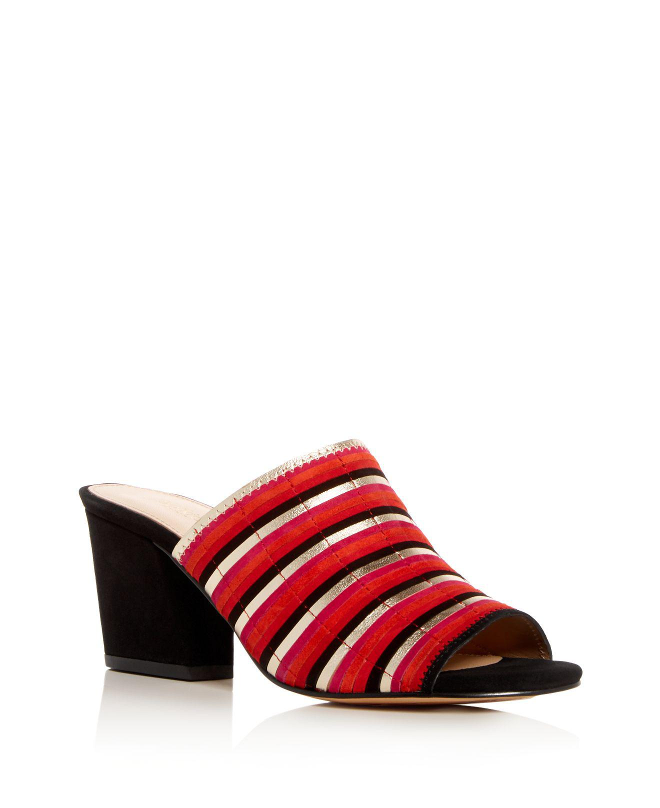 Botkier Women's Posie Suede Stripe High-Heel Slide Sandals I4QGCD
