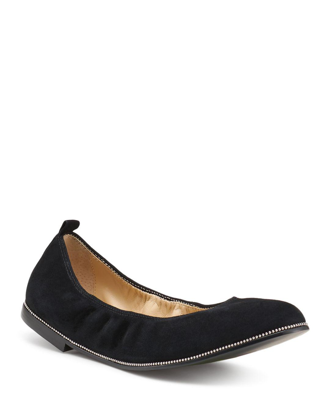 f50336815f2b3c Lyst - Botkier Women s Mason Leather Ballet Flats in Black - Save ...