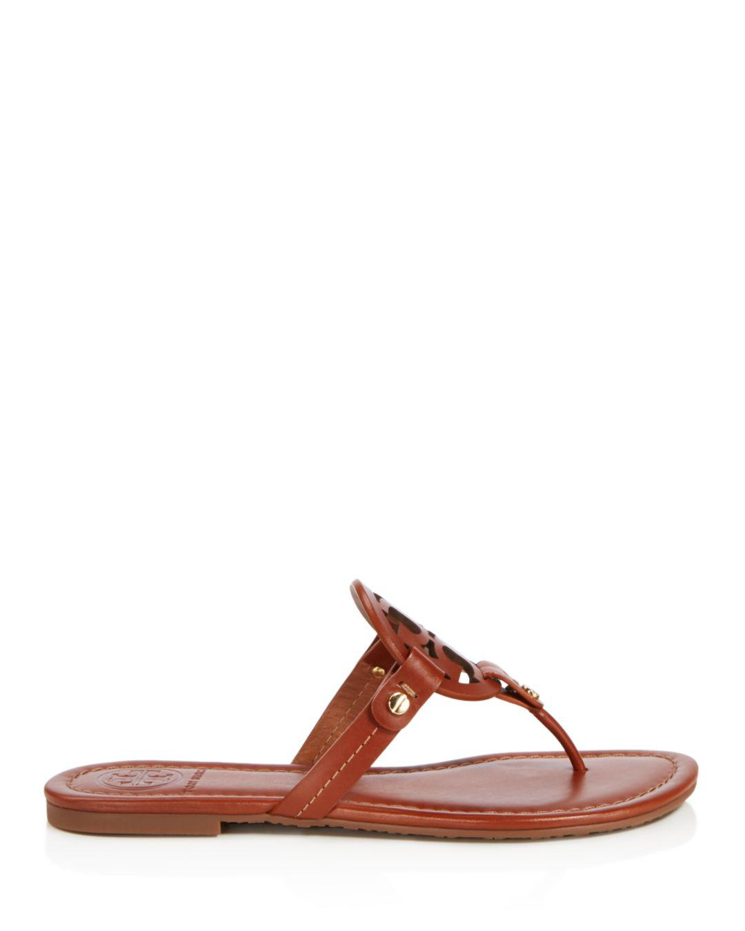 54e410b8ef01 Lyst - Tory Burch Flat Thong Sandals - Miller in Brown - Save 19%