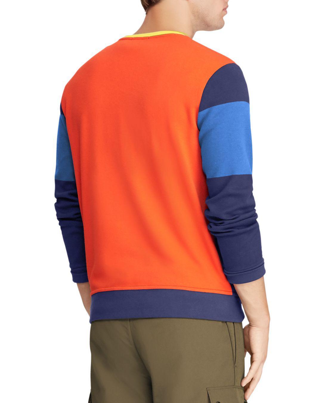 Lyst - Polo Ralph Lauren Hi Tech Double-knit Sweatshirt in Orange ... 10e24c8d9802