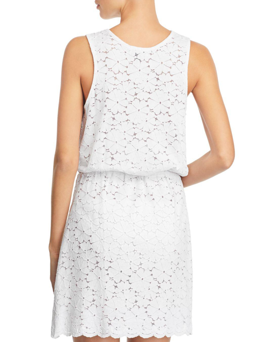 80e004cafd Lyst - J Valdi Flower Child Sleeveless Lace Swim Cover-up in White