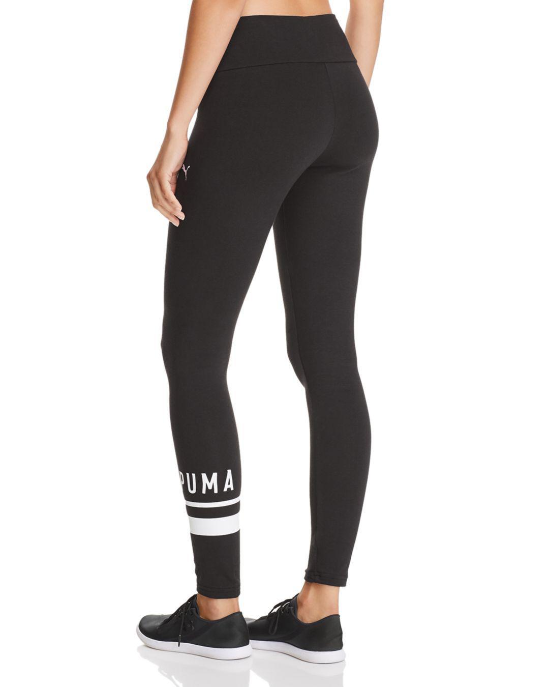 20809cab355b92 Puma Athletic Logo Leggings in Black - Lyst