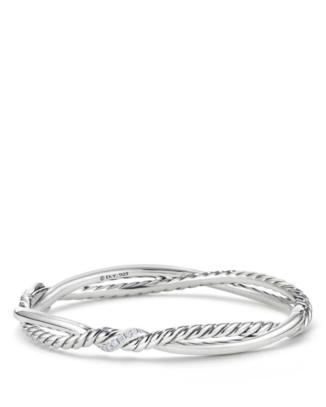 David Yurman Women S Metallic Continuance Small Station Bracelet