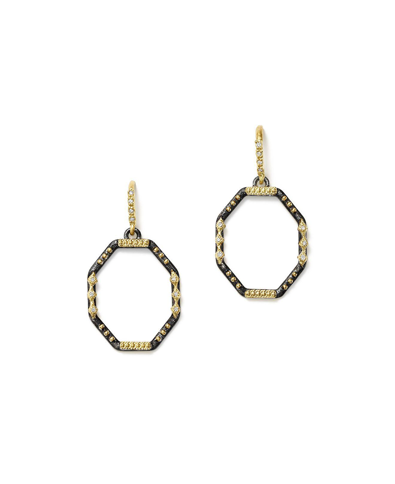 Armenta Midnight Silver & 18k Gold Open-Drop Earrings 925DE0g5