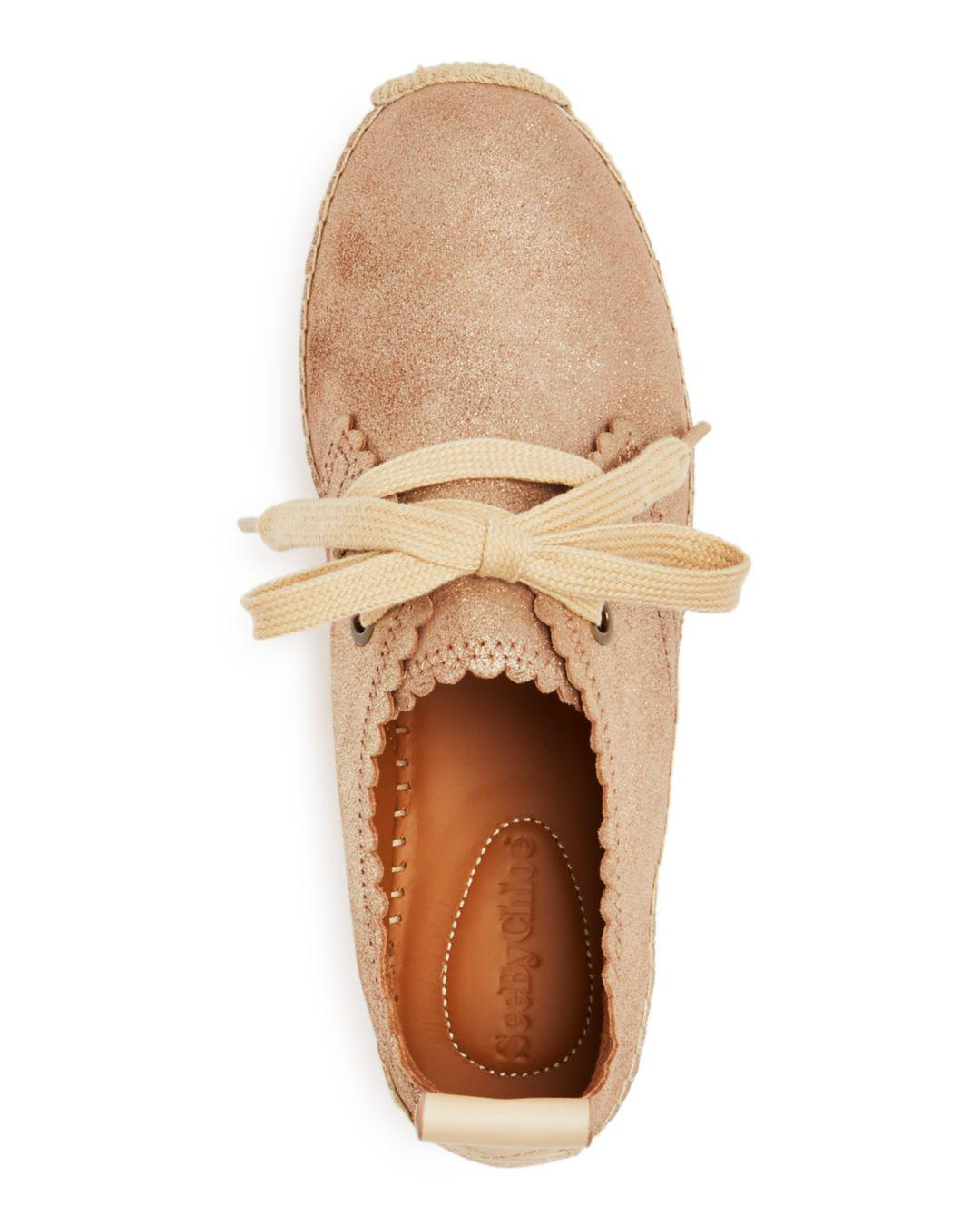 2993cc41214c Gallery. Previously sold at  Bloomingdale s · Women s Lace Up Flats Women s  Leather Espadrilles ...