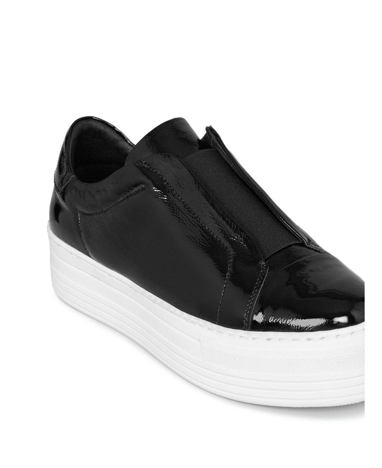 5ffcaa6035a Lyst - AllSaints Women s Aya Patent Leather Platform Slip-on ...