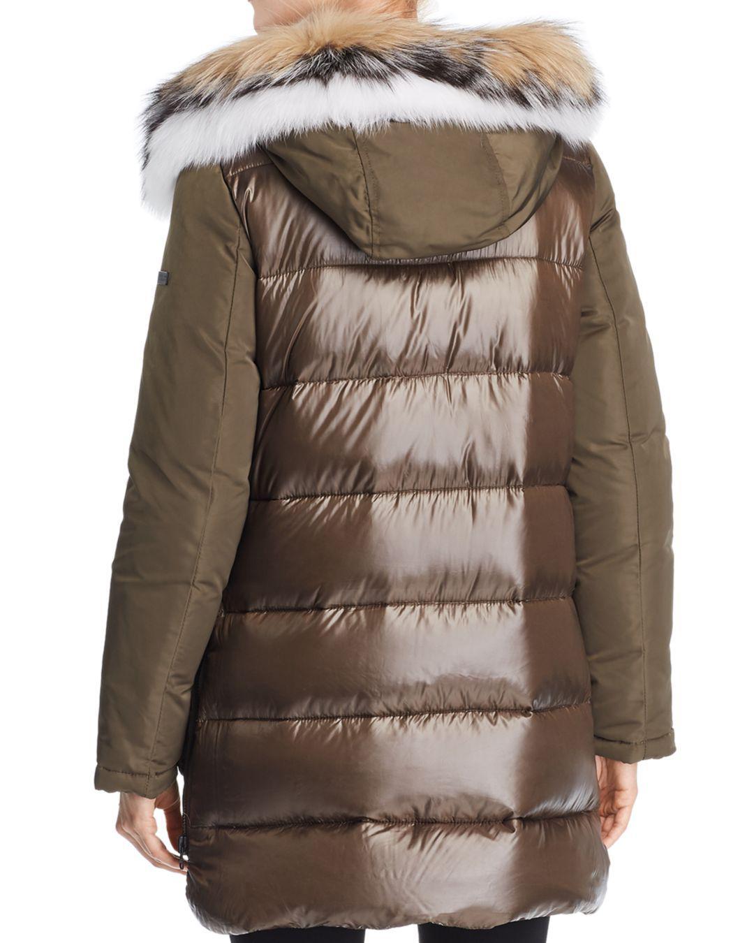 d8d284faf158 10 Crosby Derek Lam Fox Fur Trim Mixed Media Down Parka - Save 44% - Lyst