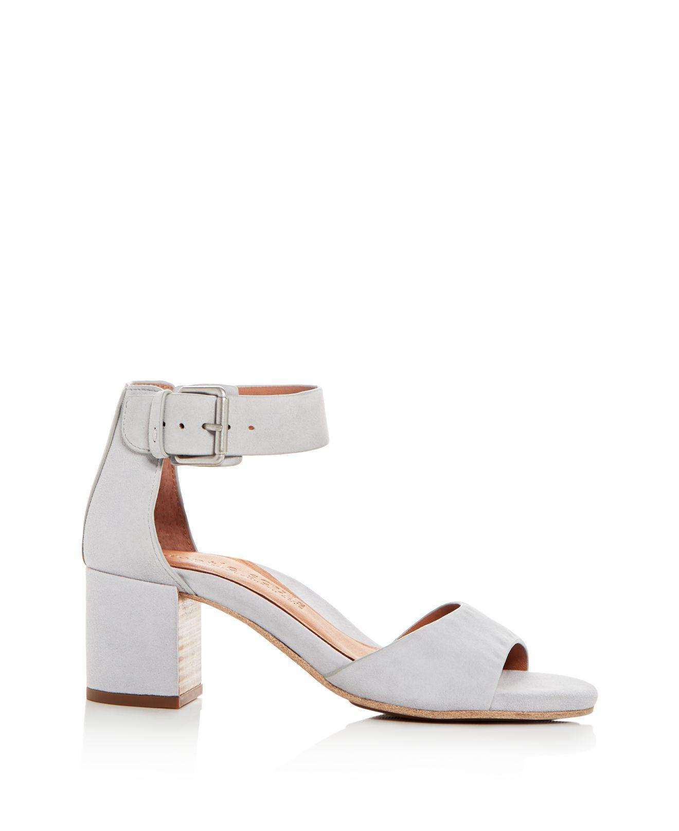 d089b1018b1 Lyst - Gentle Souls Women s Christa Suede Ankle Strap Block Heel Sandals