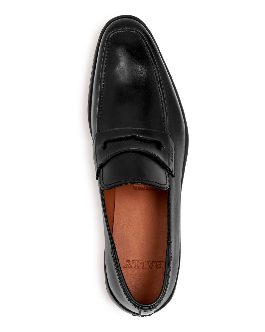 4bce7cb5aab Lyst - Bally Men s Relon Leather Apron-toe Penny Loafers in Black for Men