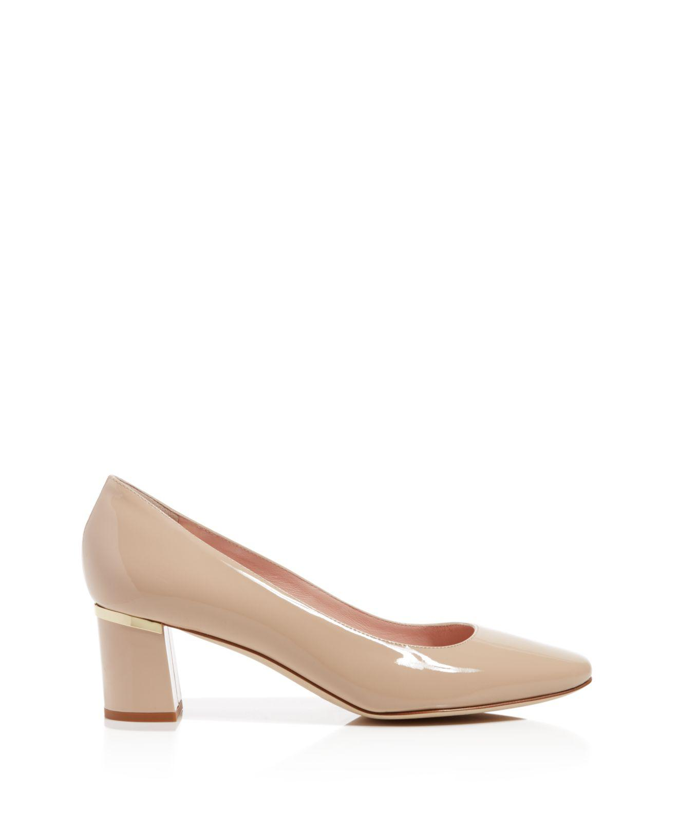 563bbc57d6f Lyst - Kate Spade Dolores Too Patent Leather Mid Heel Pumps in Blue