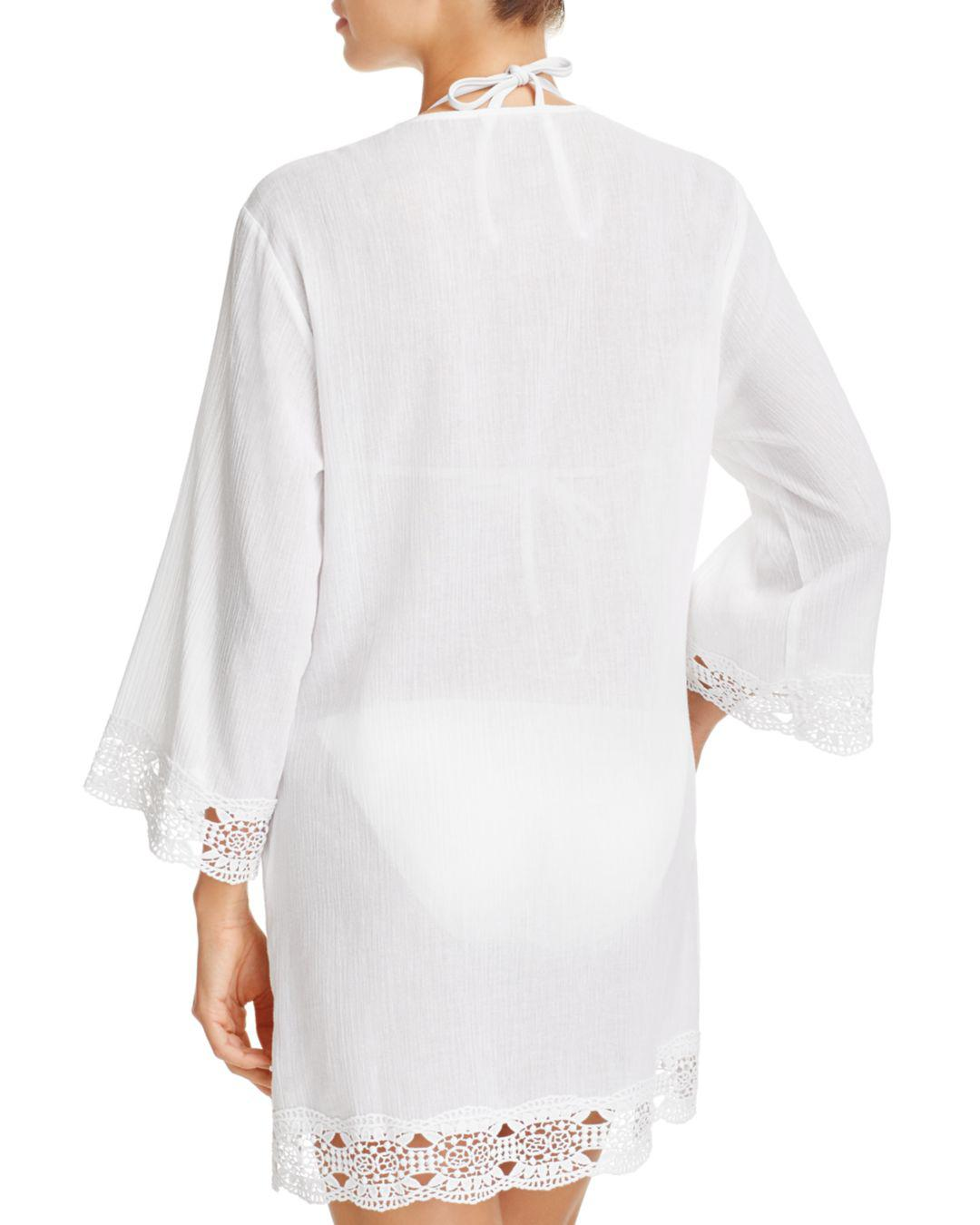 81bf15c17f Lyst - La Blanca Island Fare Tunic Swim Cover-up in White