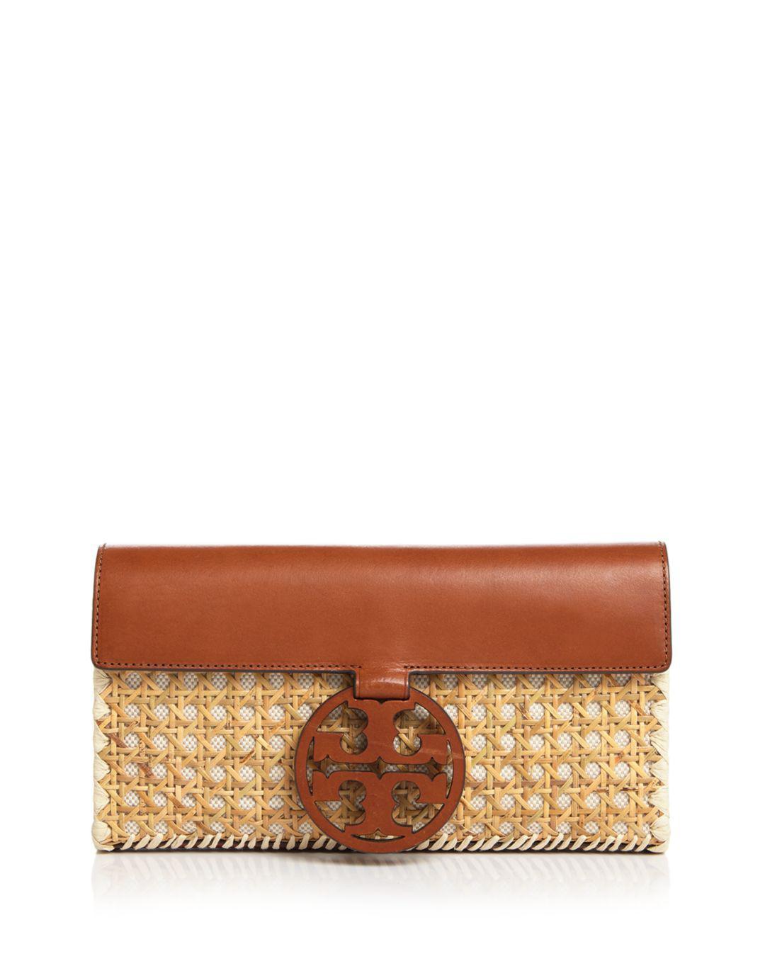 c89d218a4b8c Tory Burch. Women s Miller Rattan   Leather Clutch