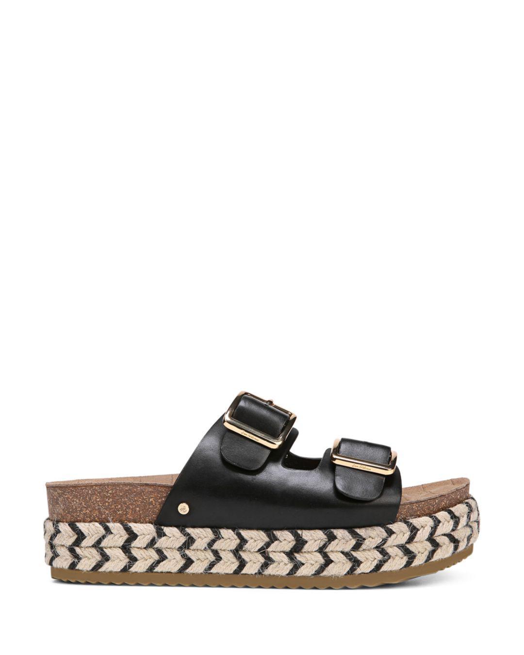 ed9a6f3f6475 Lyst - Sam Edelman Oakley Leather Platform Espadrille Slide Sandal ...