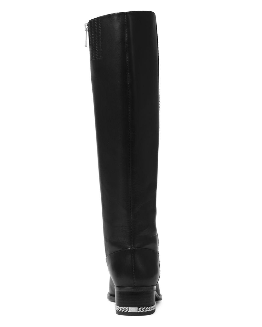 d6a85e63c668 MICHAEL Michael Kors Women s Walker Tall Riding Boots in Black - Lyst