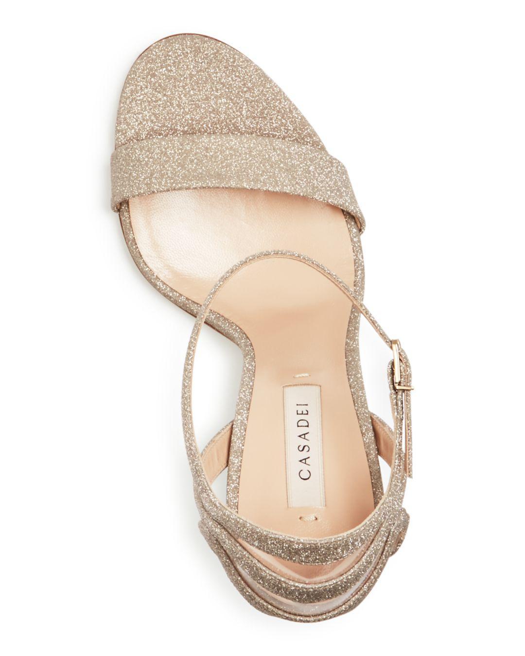 27bc76c49d2 Casadei - Multicolor Women s Glitter Ankle-strap High-heel Sandals - Lyst.  View fullscreen