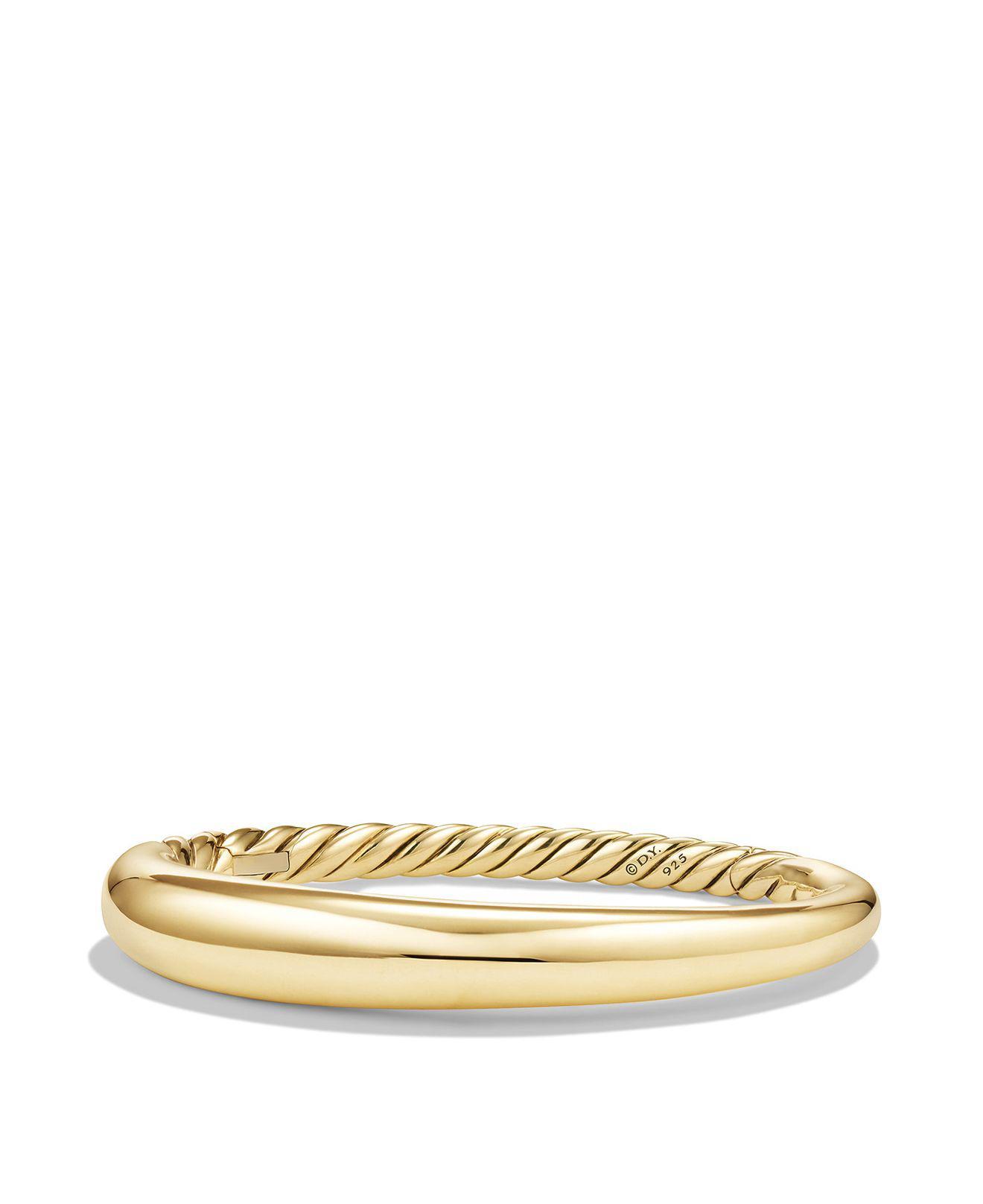 David Yurman Pure Form smooth diamond bangle - Metallic uDMnY