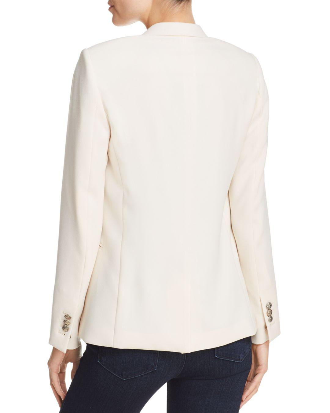 ad89ab609dd32 The Kooples Daisy Crepe Blazer in White - Lyst