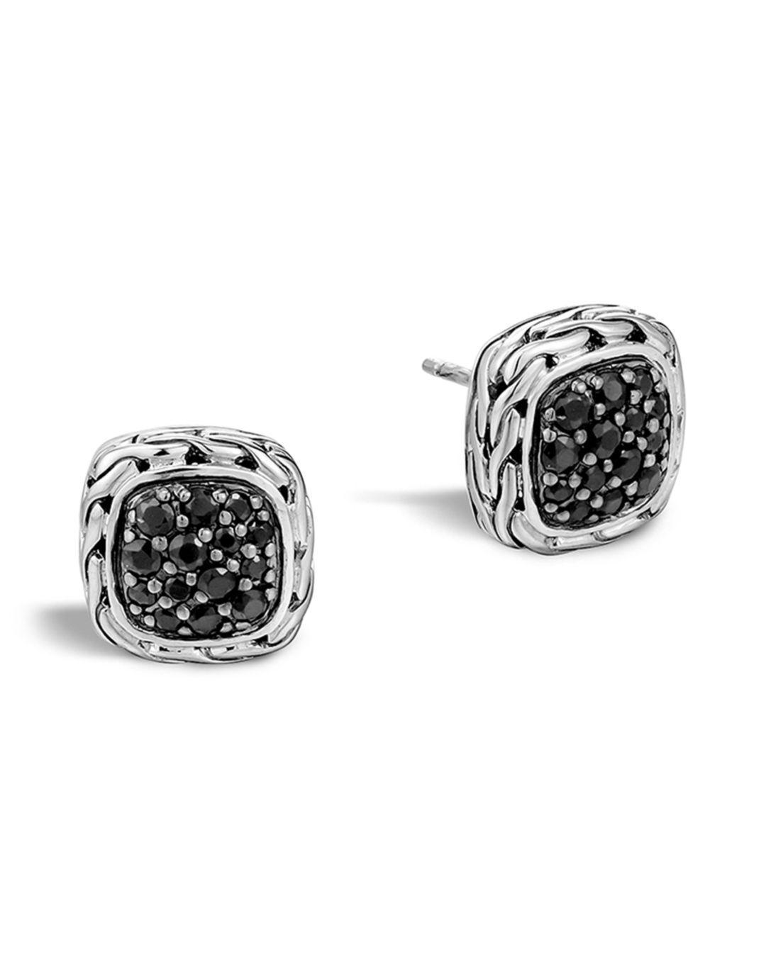d80df28a4 John Hardy 'classic Chain' Small Square Stud Earrings in Metallic - Lyst