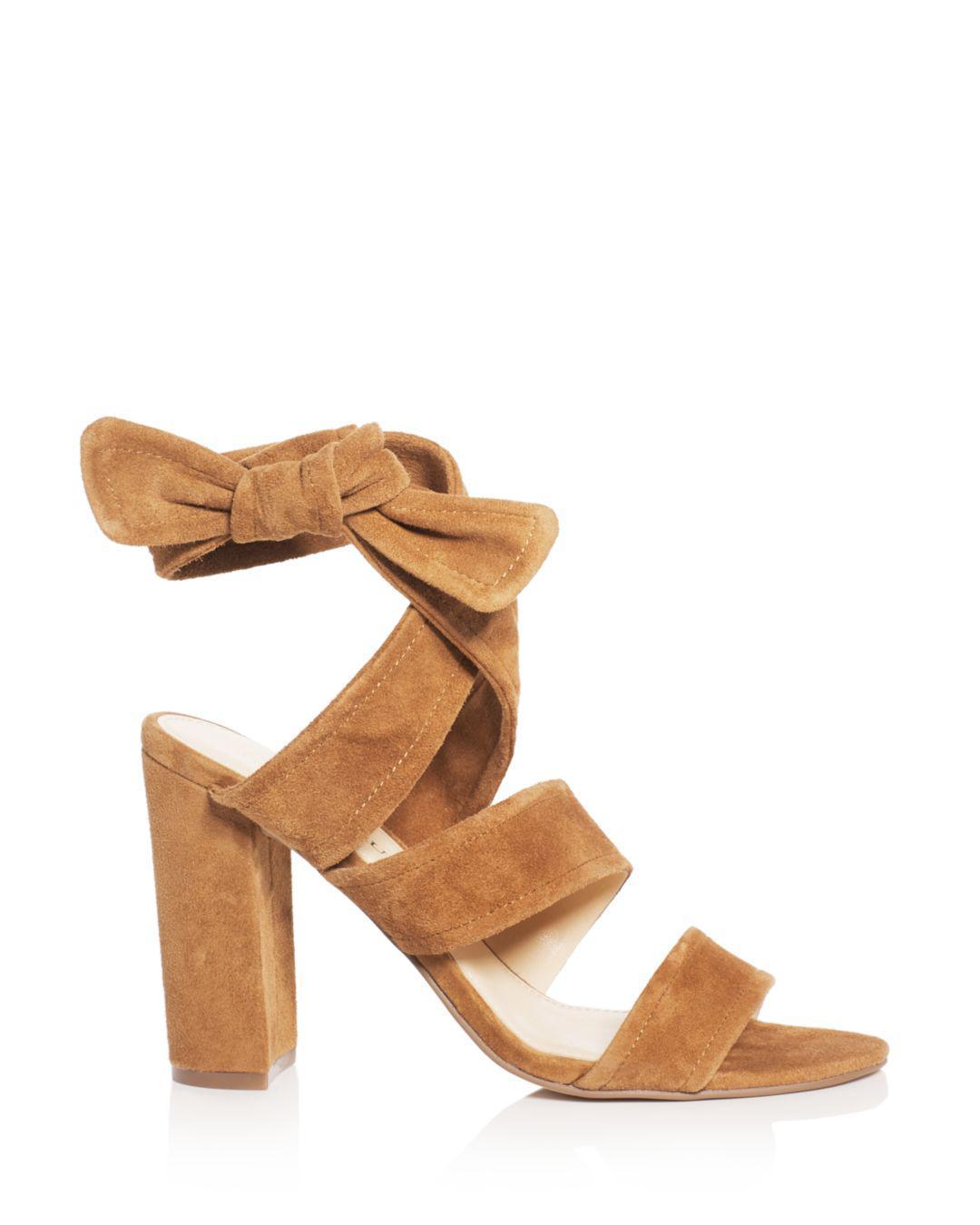 3c68a2bb6f80 Ivanka Trump Kiffie Ankle Tie High-heel Sandals in Brown - Lyst