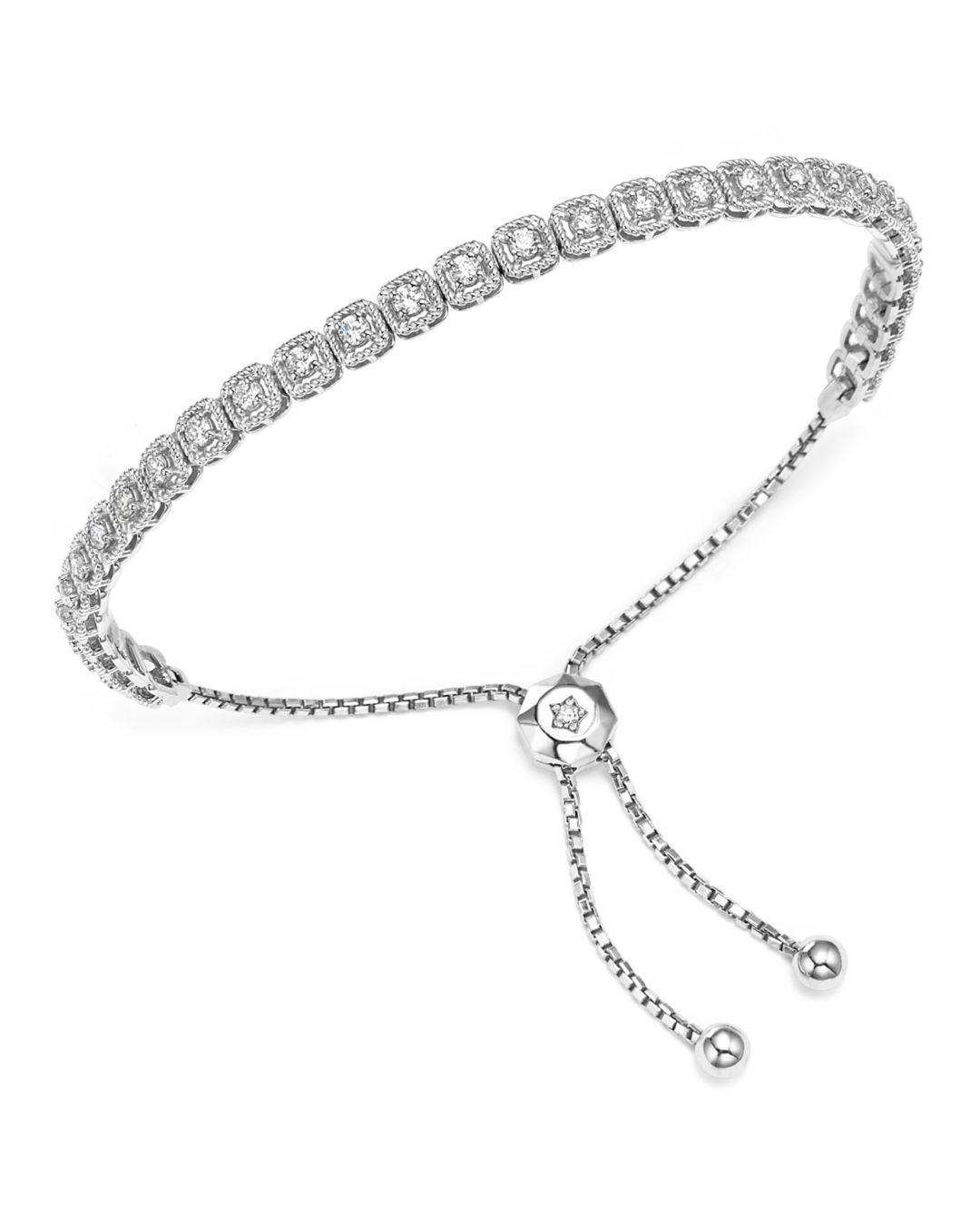 478873a779aca2 Bloomingdale's - Diamond Milgrain Bolo Bracelet In 14k White Gold, 1.0 Ct.  T.w. -. View fullscreen