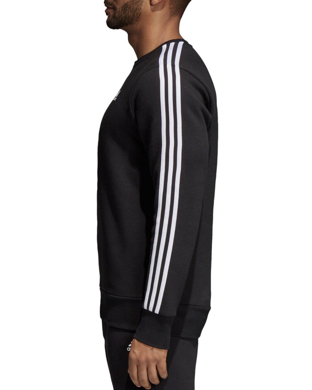 mäßiger Preis 100% Qualität billiger Verkauf Adidas Mens Essential 3 Stripe Crew Neck Sweatshirt Navy ...