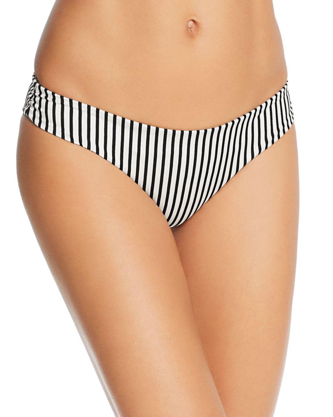 3827bf1c2 Lyst - Tori Praver Swimwear Caila Striped Bikini Bottom in Black