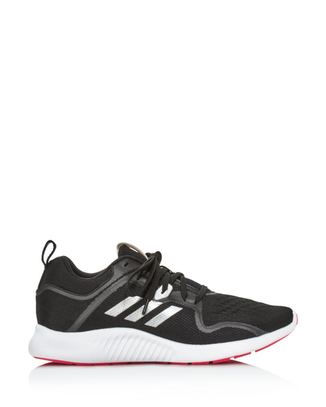 sale retailer 6f9eb 3ee1d Adidas Womens Edgebounce Mesh Lace Up Sneakers in Black - Ly