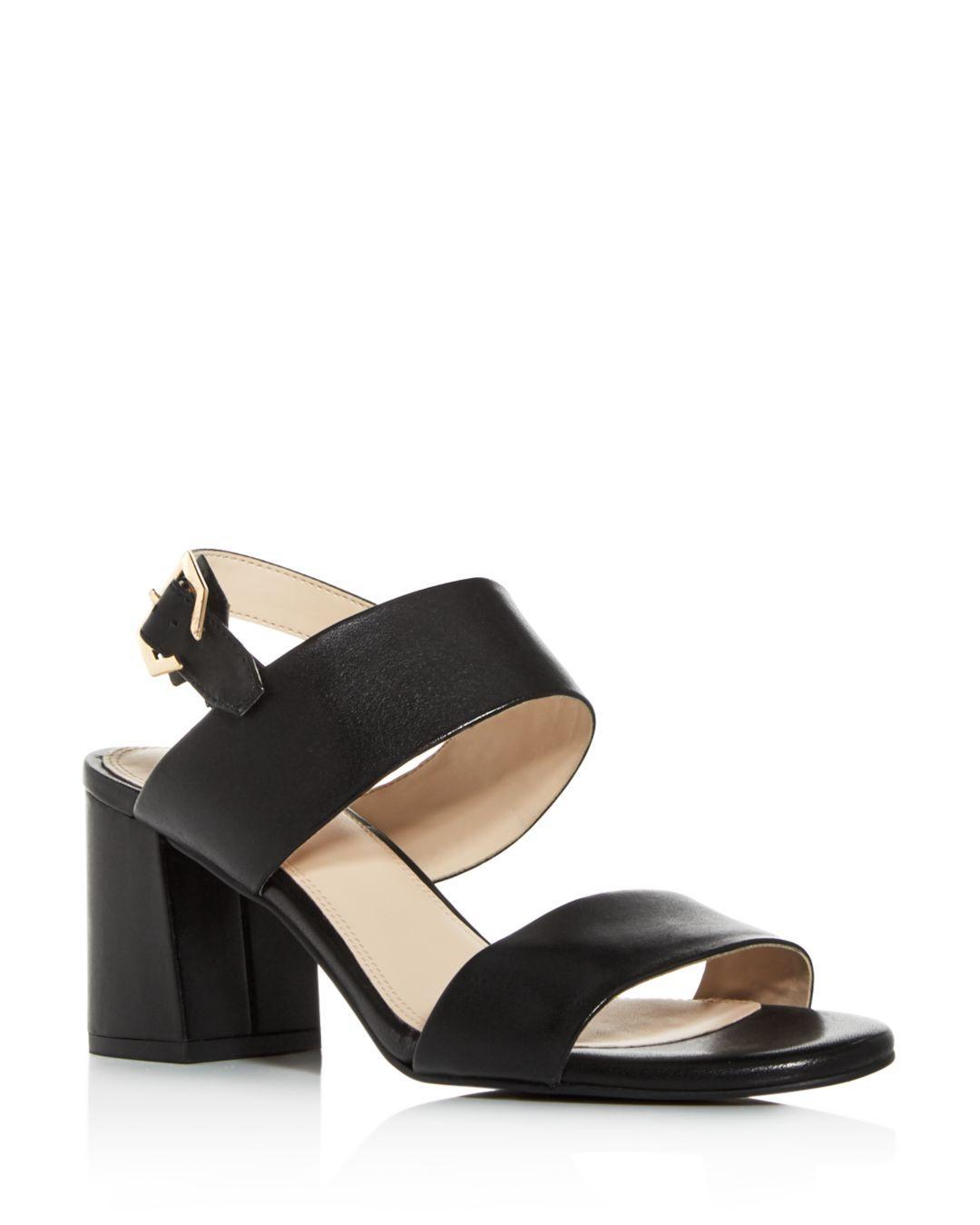 8ae08c0a5d6 Lyst - Cole Haan Women s Avani City Embossed Block-heel Sandals in Black