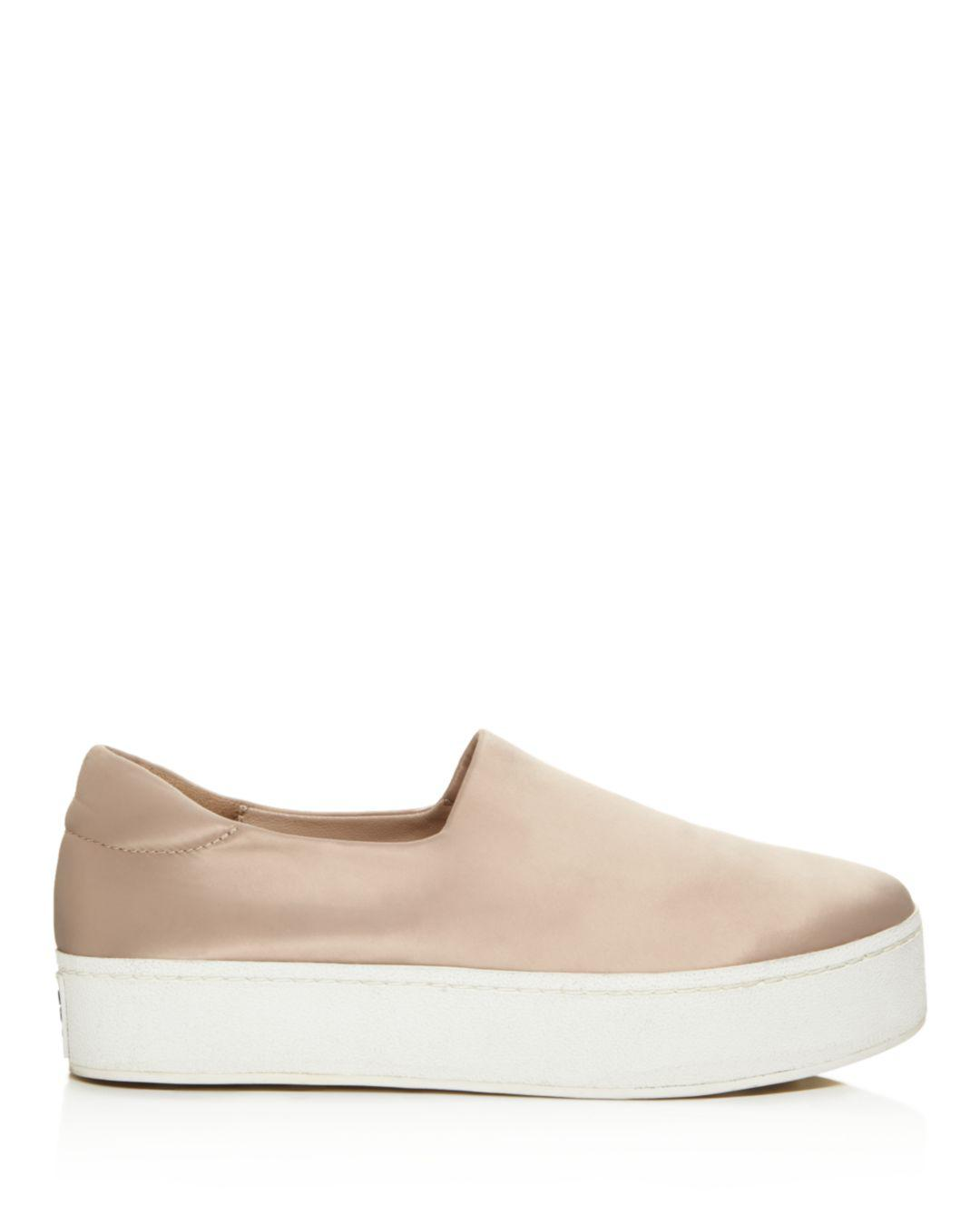 66f4179601bb Lyst - Opening Ceremony Cici Satin Platform Slip-on Sneakers in Natural -  Save 68%