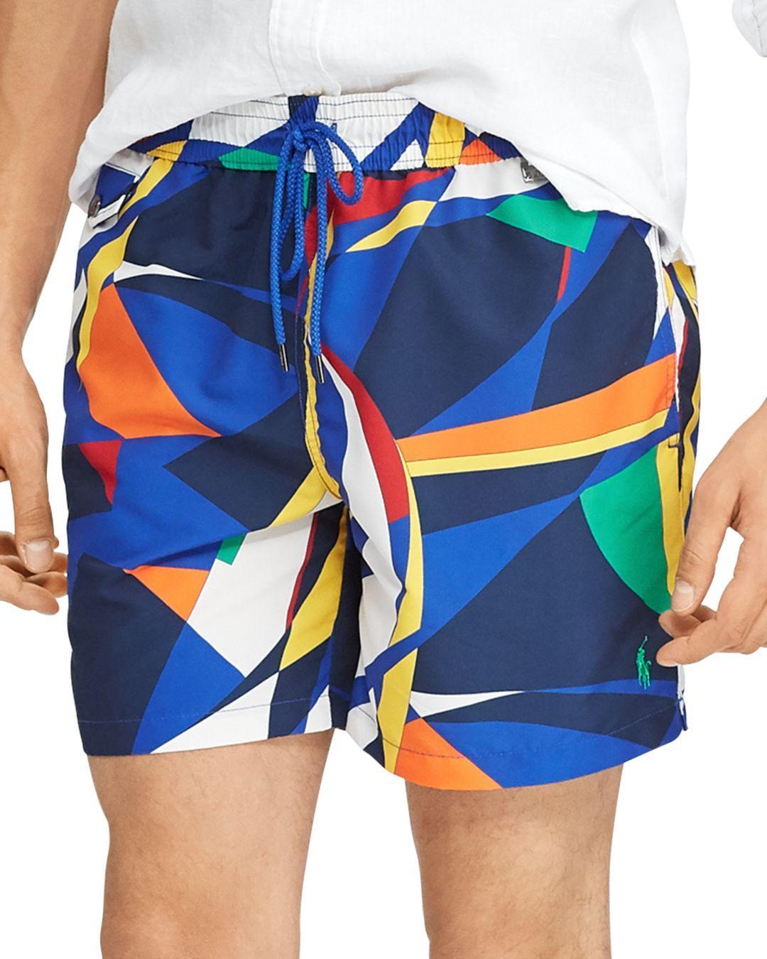 8af66dbfbb Polo Ralph Lauren - Blue Abstract - Print Swim Trunks for Men - Lyst. View  fullscreen