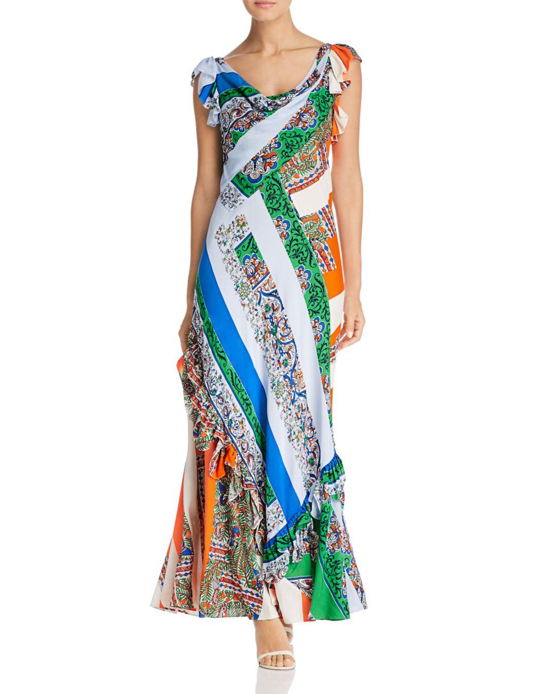 13f6495a1eff Tory Burch. Women s Patchwork Printed Maxi Dress