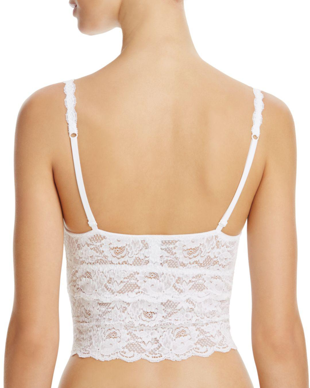 a458a56715 Lyst - Cosabella Never Say Never Cropped Lace Cami in White