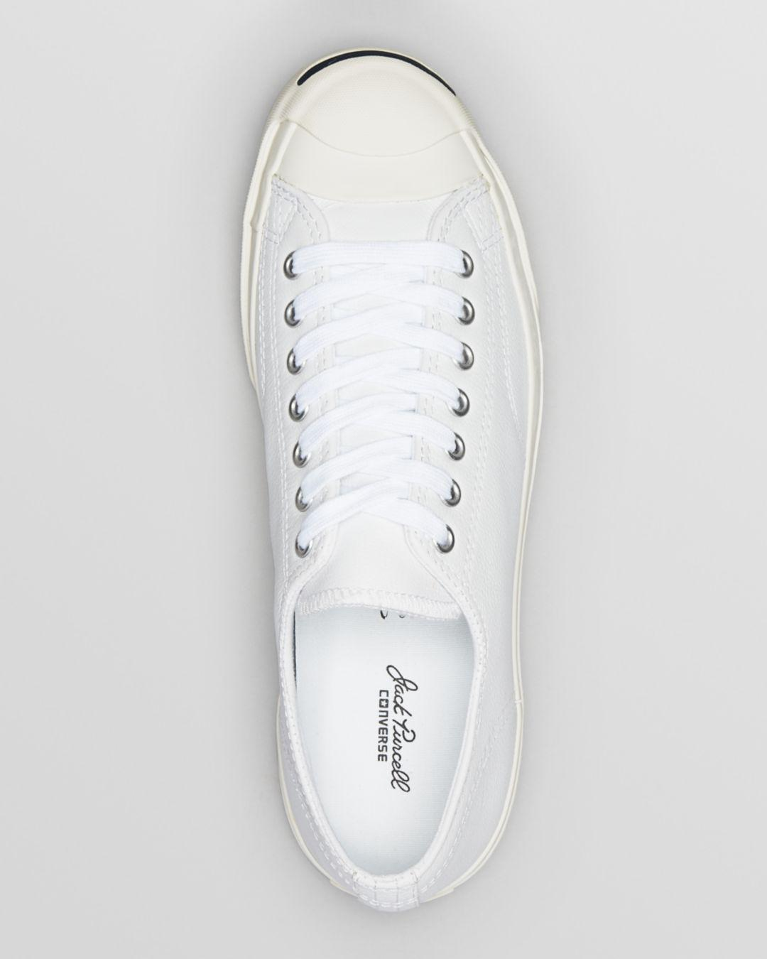 2737b8ef9bfb43 Lyst - Converse Men s Jack Purcell Leather Lace Up Sneakers in White for Men