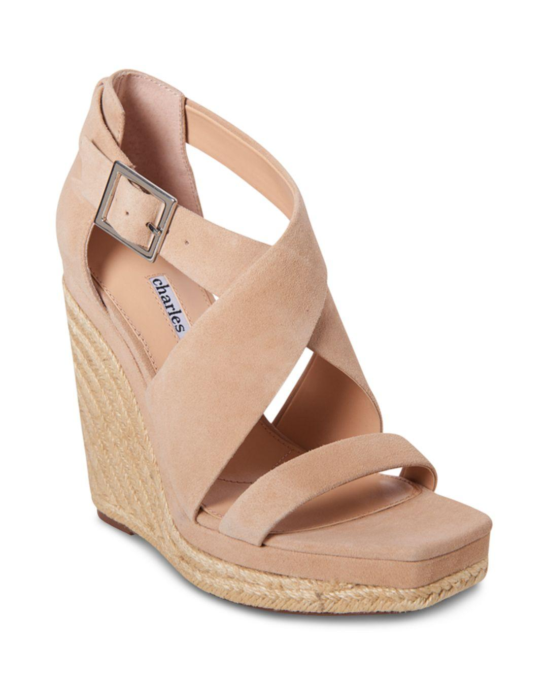 775cca2f48a Lyst - Charles David Women's Esper Wedge Sandals in Natural